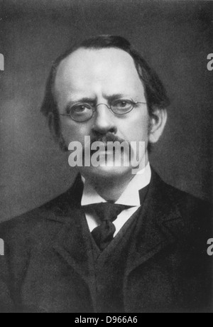 JJ (Joseph John) Thomson (1856-1940) British physicist: discoverer of Electron and pioneer of nuclear physics. From - Stock Photo