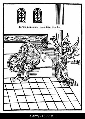 Water Closet. From Sir John Harington 'The Metamorphosis of Ajax', 1556. Harrington installed a water closet in - Stock Photo