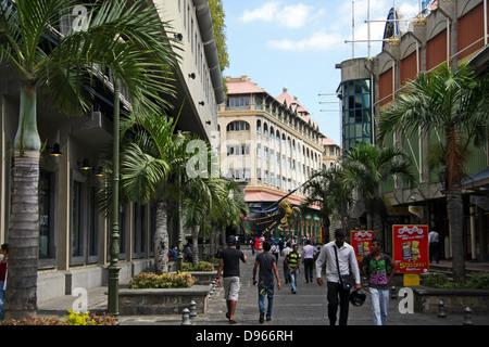 le Caudan Waterfront shopping area, Port Louis, Mauritius - Stock Photo