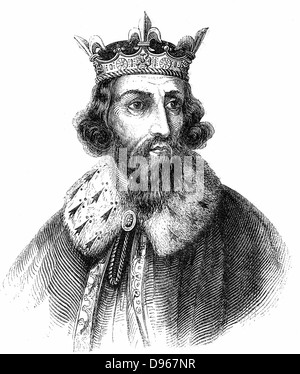 Alfred the Great (849-899) Anglo-Saxon king of Wessex from 871. Defeated Danes at Edington, Wiltshire. Signed treaty - Stock Photo