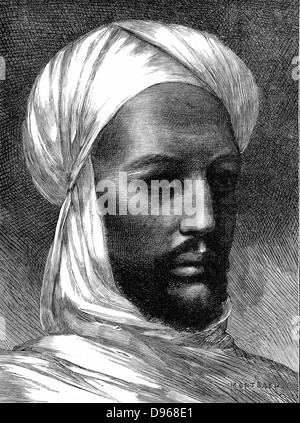 The Mahdi (Mohammed Ahmed 1848-85) Charismatic Muslim leader, slave trader, rebel against Egyptian rule in Eastern - Stock Photo