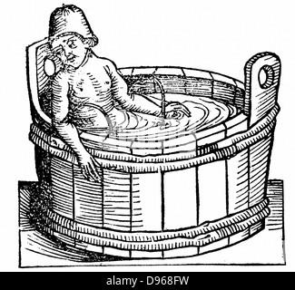 Lucius Annaeus Seneca (The Younger) c5 BC-65 AD. Ancient Roman Stoic philosopher, committing suicide in his bath, - Stock Photo