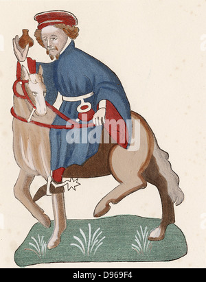 Geoffrey Chaucer (c1345-1400) English poet. The Manciple, man who buys provisions for a college, monastery or inn - Stock Photo