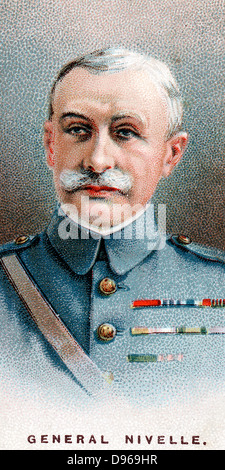 Robert Nivelle (1857-1924) French general. Commander-in-Chief  December 1916 to May 1917: superseded by Petain. - Stock Photo
