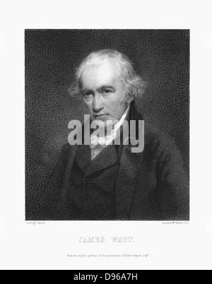 James Watt (1736-1819) Scottish engineer. Print after portrait by John Partridge - Stock Photo