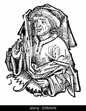 Averroes (Ibn Rushd) 1126-1198 full name Abu Al-Walid Muhammad Ibn Ahmad Ibn Muhammad Ibn Rushd, eminent medieval - Stock Photo
