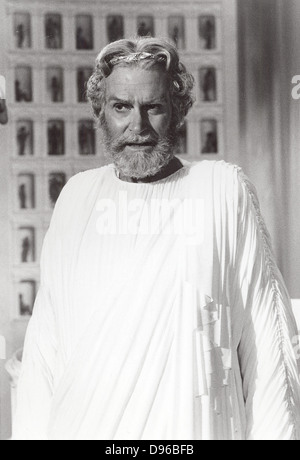 Laurence Olivier (1907-1989) English actor, producer and director. Still of Olivier as the god Zeus from the 1981 - Stock Photo