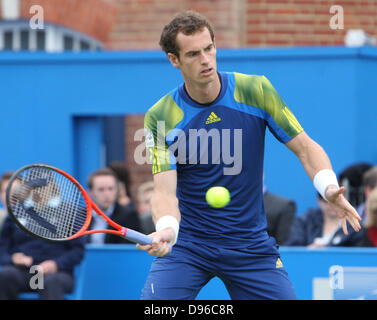 London, UK. 12th June 2013. Andy Murray (GBR) v Nicolas Mahut (FRA) during the The Aegon Championships from the - Stock Photo