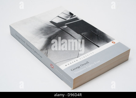 'Nineteen Eighty-Four' is a dystopian novel by George Orwell published in 1949. - Stock Photo
