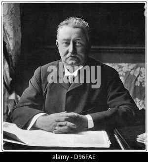 Cecil John Rhodes(1852-1902) English-born South African statesman. Photographic portrait published 1901 - Stock Photo
