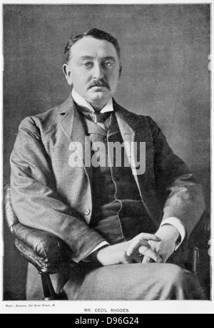 Cecil John Rhodes (1852-1902) English-born South African statesman. Photographic portrait published 1901 - Stock Photo
