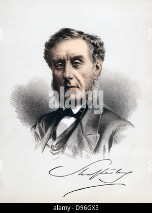 Anthony Ashley Cooper, 7th Earl of Shaftesbury (1801-1885), c1880. English statesman, moral philosopher and philanthropist - Stock Photo