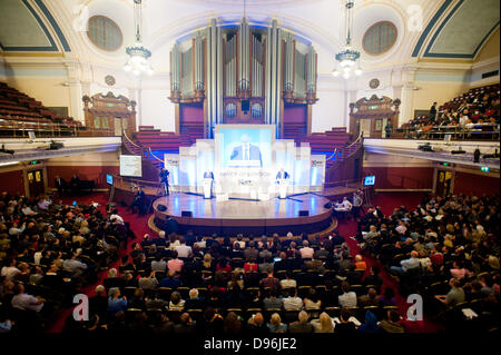 London, UK. 12th June 2013. The Mayor of London Boris Johnson answers questions of Londoners about the capital at - Stock Photo