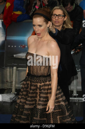 AMY ADAMS MAN OF STEEL UK PREMIERE LEICESTER SQUARE  LONDON ENGLAND 12 June 2013 - Stock Photo