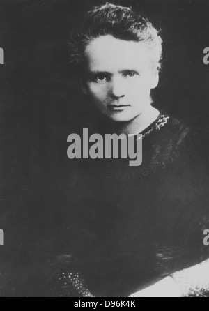 Marie Curie (1867-1934) Polish-born French physicist. Award Nobel prize for physics jointly with her husband, Pierre, - Stock Photo