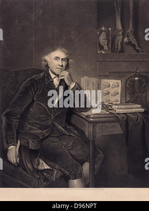 John Hunter (1728-1793) Scottish anatomist, physiologist and surgeon who applied scientific method to medicine. - Stock Photo
