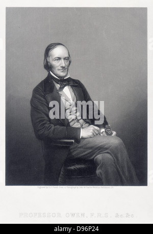 Richard Owen (1804-1892) British zoologist. Opponent of Darwin. - Stock Photo