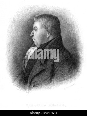 John Leslie (1766-1832) Scottish natural philosopher and physicist.  Leslie invented a number of scientific instruments - Stock Photo