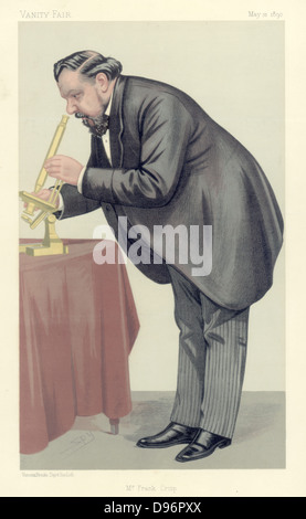 Mr Frank Crisp' (c1853-1919), English Limited Liability Lawyer one of whose personal interests was microscopy and - Stock Photo