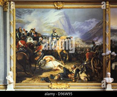 Napoleon at the Battle of Rivoli'. Rivoli (14-15 January 1797) defeat of Austria by French forces under Bonaparte. - Stock Photo