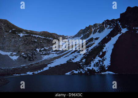 Ellery Lake at Yosemite National Park, Tioga Road CA - Stock Photo