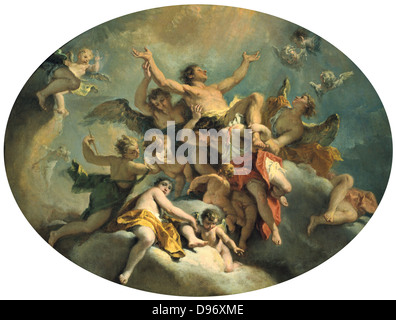 Assumption of St. Sebastian, Sebastiano Ricci (1659-1734) Italian Painter. Rococco.Oil on canvas.an - Stock Photo