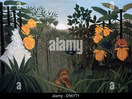 The Snake Charmer' 1907: Henri Rousseau (Le Douanier) 1844-1910, French Primitive painter . Oil on canvas. - Stock Photo
