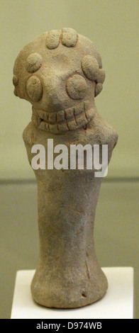 Terracotta figurines of women with stubby arms. Sam'al/Zincirli in Turkey (reconstruction) Erected and rebuilt during - Stock Photo