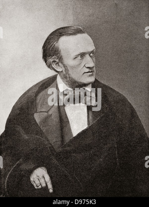 Wilhelm Richard Wagner, 1813 – 1883. German composer, theatre director, polemicist and conductor. - Stock Photo