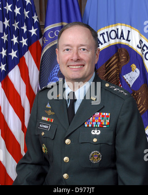 General Keith Alexander, Director of the National Security Agency and US Cyber Command July 23, 2010 in Fort Meade, - Stock Photo