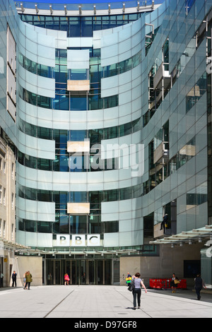 BBC Broadcasting House and new extension - Stock Photo