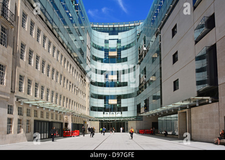 Broadcasting House at the BBC and new extension - Stock Photo