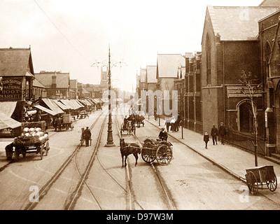 Roath Albany Road Cardiff early 1900s - Stock Photo
