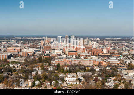 View from Vulcan statue, Vulcan Park and Museum, Birmingham, Alabama, United States of America - Stock Photo