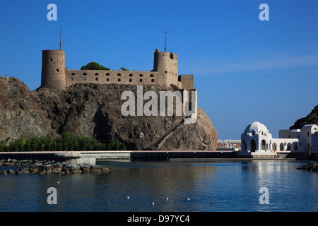 castle Jalali, Muscat, Oman - Stock Photo