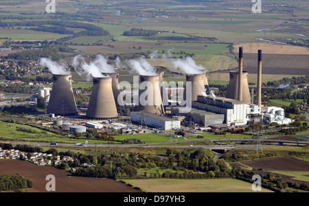 Power station from the air, England. - Stock Photo