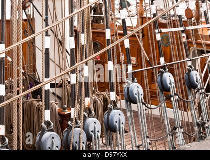 Tall Ship Rigging - Stock Photo