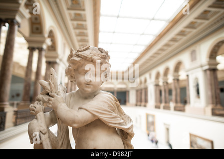 BRUSSELS, Belgium - A 17th century sculpture by Ludovicus Willemsens (1630-1702) titled L'Abondance on display at - Stock Photo