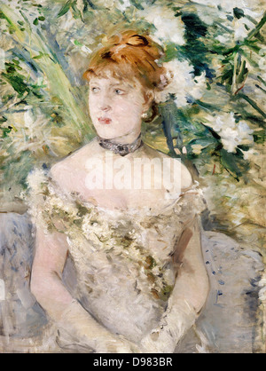 Berthe Morisot, Young Girl in a Ball Gown 1879 Oil on canvas. Musée d'Orsay, Paris. - Stock Photo