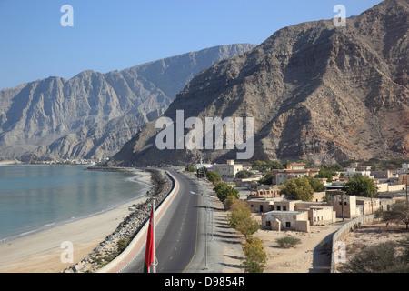 Bukha, Bucha, in the granny's niches enclave of Musandam, Oman - Stock Photo