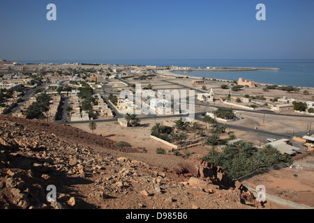 Bay of Bukha, in the granny's niches enclave of Musandam, Oman - Stock Photo