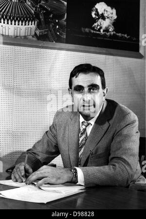 Edward Teller (January 15, 1908 – September 9, 2003) was a Hungarian-born American theoretical physicist, known - Stock Photo