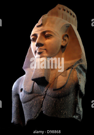 Statue of Ramesses II, the 'Younger Memnon' From the Ramesseum, Thebes, Egypt, 19th Dynasty, about 1250 BC. Ramesses - Stock Photo