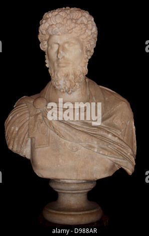 Lucius Aurelius Verus (15 December 130 – 169), born as Lucius Ceionius Commodus, known as Lucius Verus, was Roman - Stock Photo