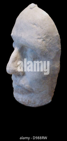 Cast of the death mask of Oliver Cromwell (1599–1658), Lord Protector of England, Scotland and Ireland 1653–58, - Stock Photo