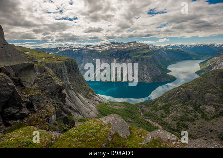 View of lake Ringedalsvatnet, Norway - Stock Photo