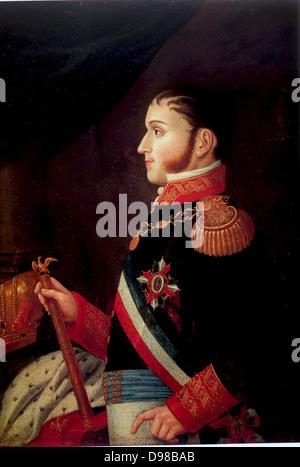 Augustín de Iturbide (1783-1824) also known as Agustín I, Constitutional Emperor of Mexico 1822-1823.by Jiménez - Stock Photo