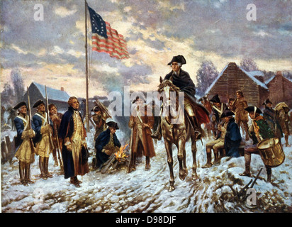 Revolutionary War 1775-1783 (American War of Independence): 'Washington at Valley Forge', Pennsylvania, l December - Stock Photo