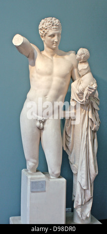Hermes of Praxiteles or the Hermes of Olympia, an ancient ...