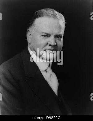 President Herbert Hoover (1874-1964) 31st President of the United States of America (1921-1933). Head-and-shoulders - Stock Photo